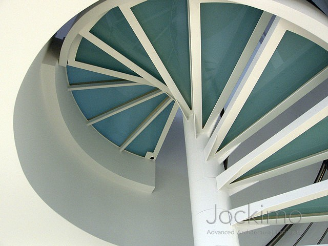Spiral Staircase Ny Cast Glass Glass Flooring
