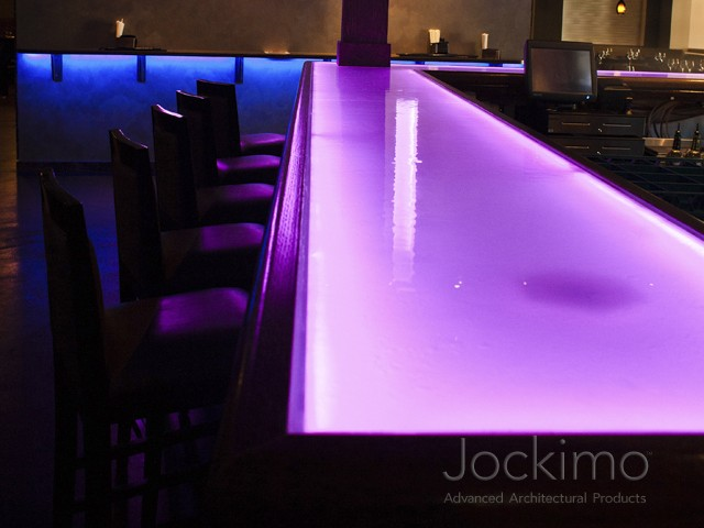 purplerain castglass countertop close