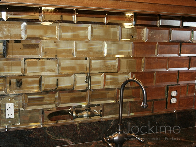 Subway tile glass slide show cast glass glass flooring for Mirrored subway tiles
