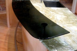 Black Glass Counter Top