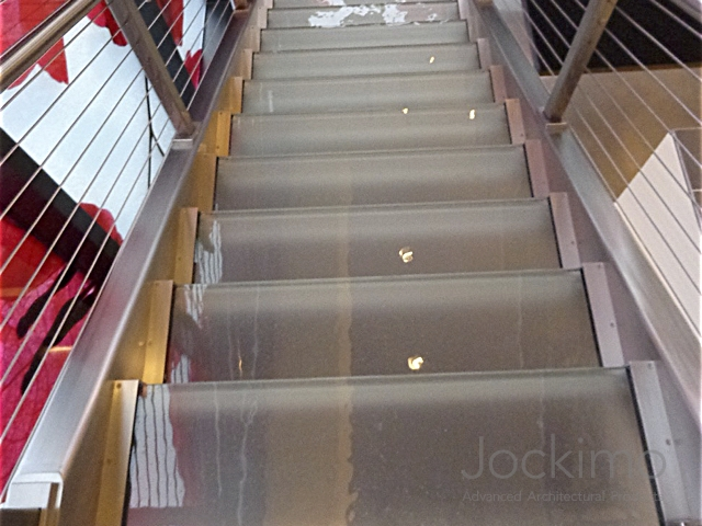 Bel Air Bar, Glass Treads, Glass Steps, Glass Stair Treads, Anti