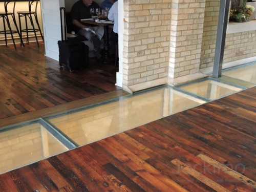 cured glassflooring face