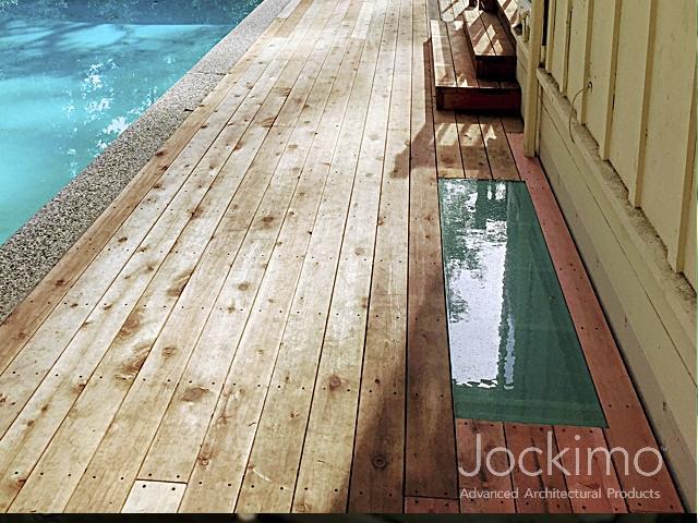 Wood Deck Glass Floor Cast Glass Glass Flooring