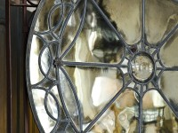Rose Window Framed Mirror