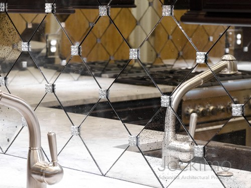 Cast Glass Flooring Antique Mirrors, How To Install Mirror Rosettes