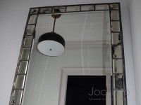 Leaded Subway Framed Mirror