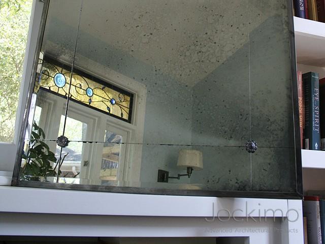 Quinn Framed Mirror Cast Glass Glass Flooring Antique